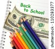 Back to school has a price - stock photo