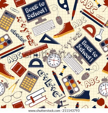 Back to school illustration - stock photo