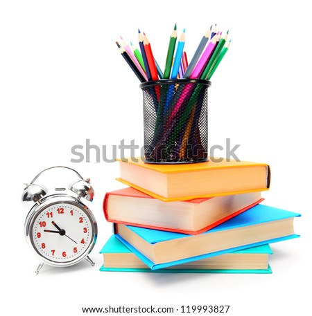 Back to school. School tools. - stock photo