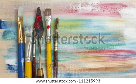 Back to School Series: art supplies - stock photo