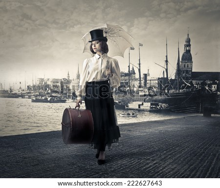 Back to the past  - stock photo