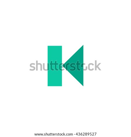 Back Track arrow Media player control button. Color simple flat icon on white background - stock photo