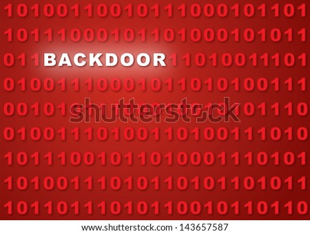 Backdoor Abstract Background - stock photo