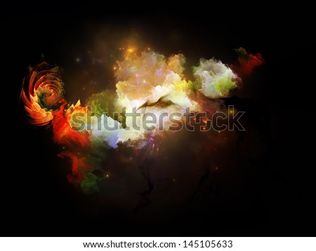 Backdrop of  colorful design elements on the subject of design, imagination and creativity - stock photo