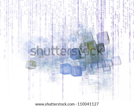 Backdrop of  numbers and design elements to complement your design on the subject of computers, science, math and modern technology - stock photo