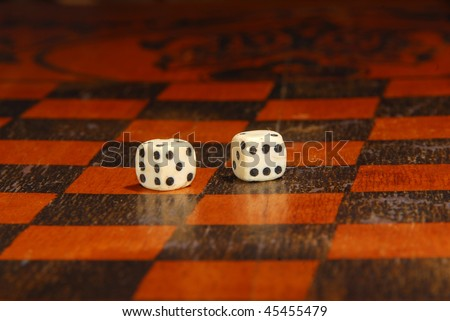 Backgammon - stock photo