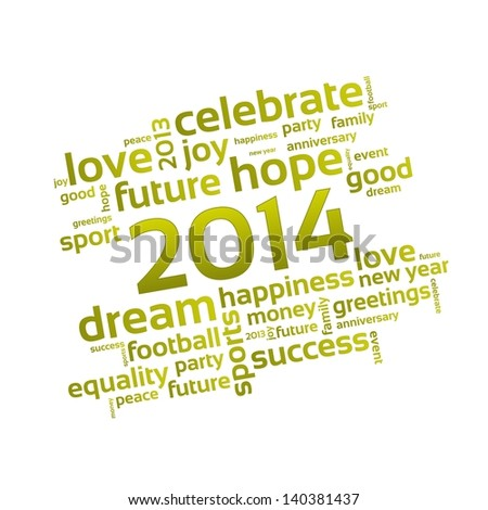 Background 2014 - A Wish for the New Year - stock photo