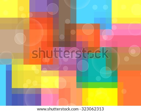 Background Abstract with Circles - stock photo