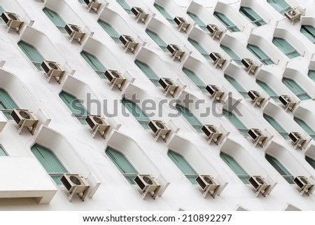 Background, air conditioning - stock photo