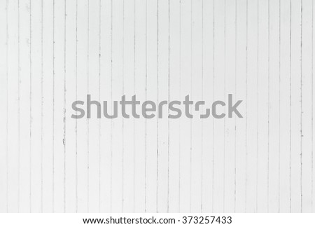 background and texture of decorative detail old white wood stripe on surface wall - stock photo