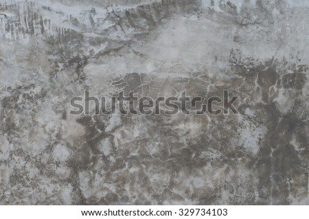 background and texture on finishing wall in vintage style gray color of Polished concrete surface - stock photo