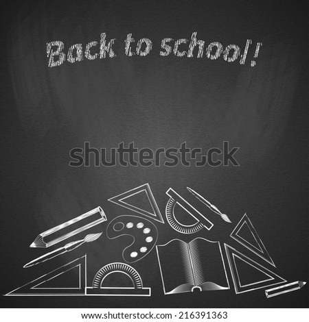 Background back to school. - stock photo