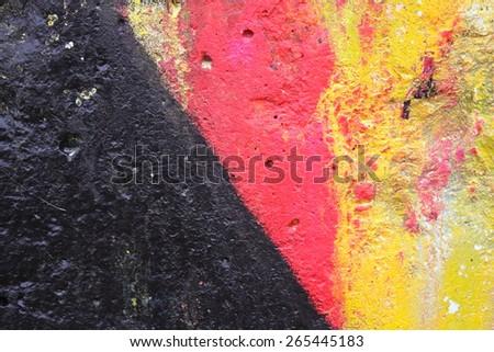 Background black red yellow - stock photo