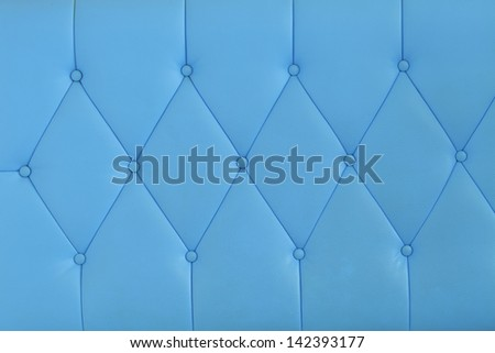 Background blue sofa. - stock photo