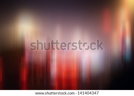 background blur night lights - stock photo