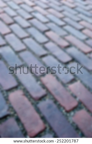 Background brick blur image - stock photo
