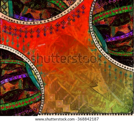 background bright, painted in watercolor style - stock photo
