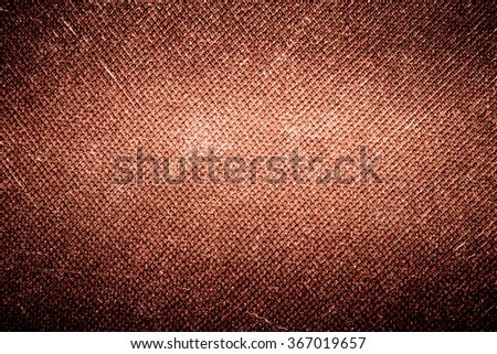 Background brown canvas - stock photo