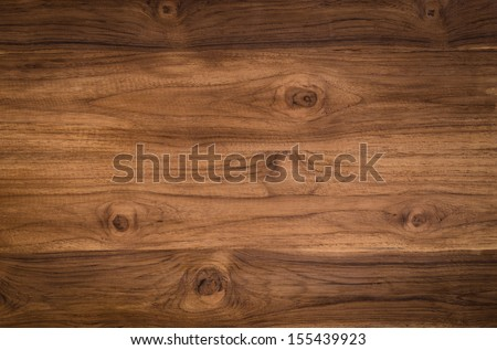 background brown color nature  pattern detail of teak wood decorative furniture surface - stock photo