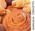 background close up image of dresh tasty bakery - stock photo