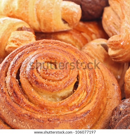 background close up image of dresh tasty bakery - stock photo