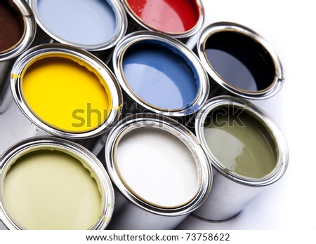 Background color, Cans - stock photo