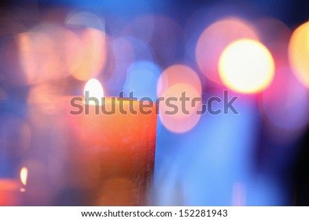background  colored light cluster - stock photo