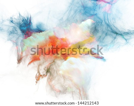 Background composition of  bursting strands of fractal smoke and paint to complement your layouts on the subject of design, science, technology and creativity - stock photo