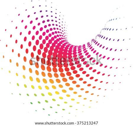 Background Composition Spectrum, Web Template (Halftone) - stock photo