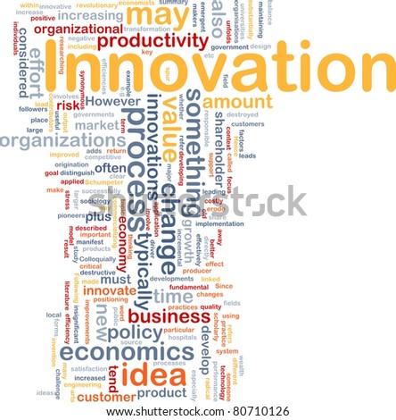 Background concept illustration of business innovation change - stock photo