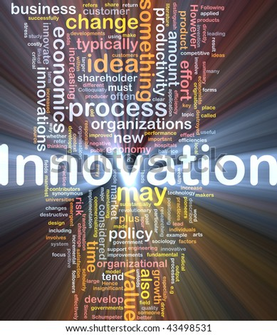 Background concept illustration of business innovation change glowing light - stock photo