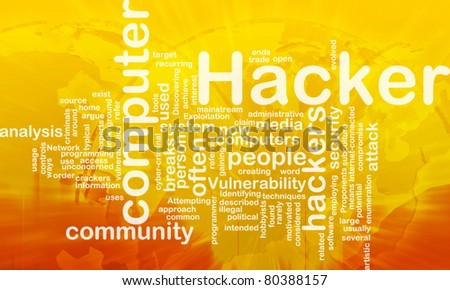 Background concept illustration of computer hacker attack international - stock photo