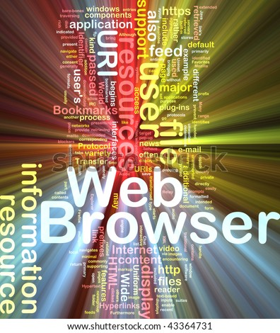 Background concept illustration of internet web browser glowing light effect - stock photo