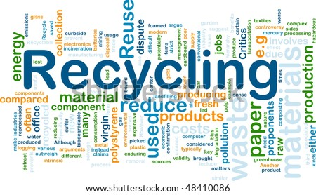 Background concept illustration of recycling waste materials - stock photo