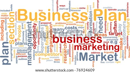 Background concept wordcloud illustration of business plan - stock photo
