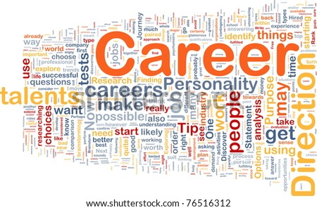 Background concept wordcloud illustration of career - stock photo