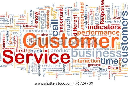 Background concept wordcloud illustration of customer service - stock photo