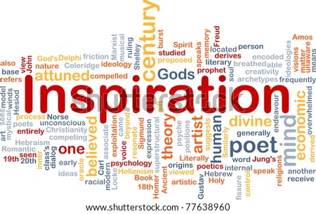 Background concept wordcloud illustration of humand mind inspiration - stock photo