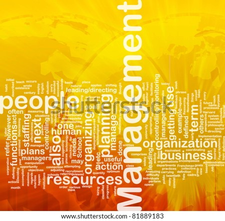 Background concept wordcloud illustration of management international - stock photo