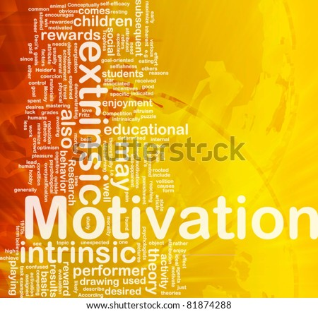 Background concept wordcloud illustration of motivation international - stock photo