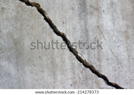 Background, concrete wall with cracks - stock photo
