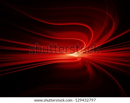 Background design of motion trails in perspective on the subject of science and technology - stock photo