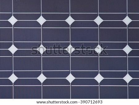 background detail of a solar panel - stock photo