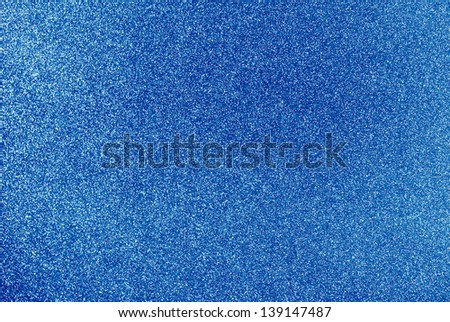 Background filled with shiny blue glitter - stock photo