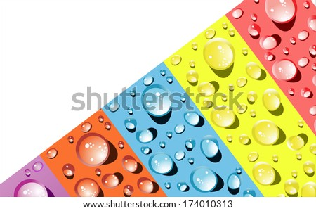 background for the app icons-water drop part - stock photo