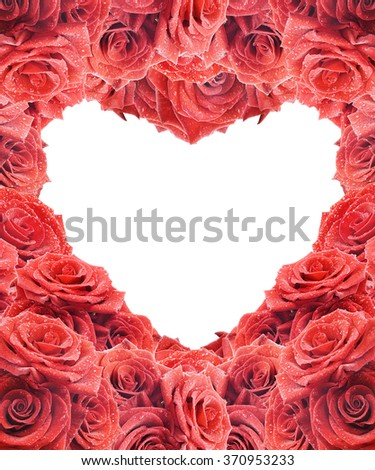 Background for Valentine's card with red roses - stock photo
