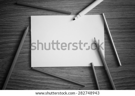 background for writing stationery - stock photo