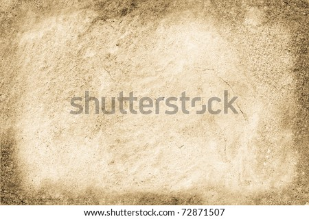 Background from a stone wall with frame. - stock photo