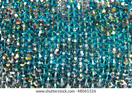 background from blue shiny gems - stock photo