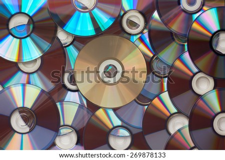 Background from DVD disks. Texture of the optical disc. - stock photo
